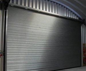 Galvanised steel roller shutters