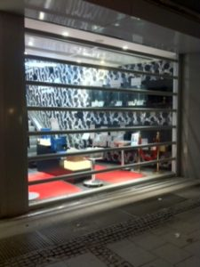 Transparent Roller Shutters at Night