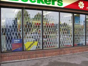 Retail Unit Retractable Gates