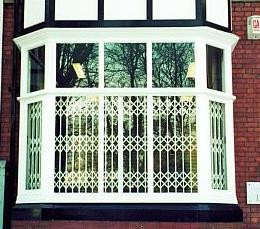 White Retractable Gate Security Gate