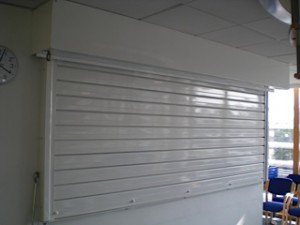 Kitchen and servery fire shutters