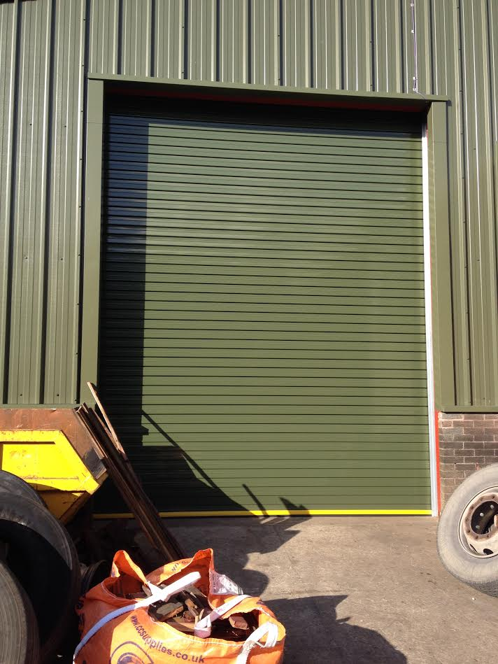 Powder coated twin skin insulated door Lancaster (2)