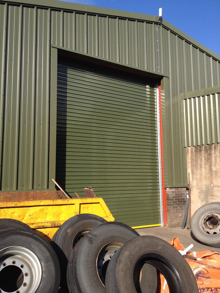 Powder coated twin skin insulated door (Lancaster)