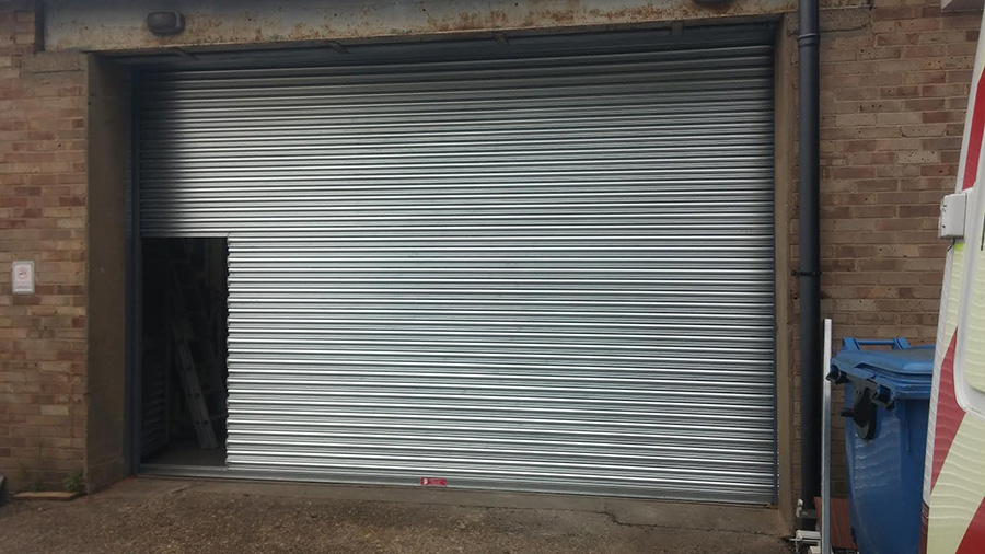 Roller Shutter With Wicket Gate Nottingham Westwood