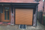 Golden Oak Coloured Domestic Roller Shutter, Manchester