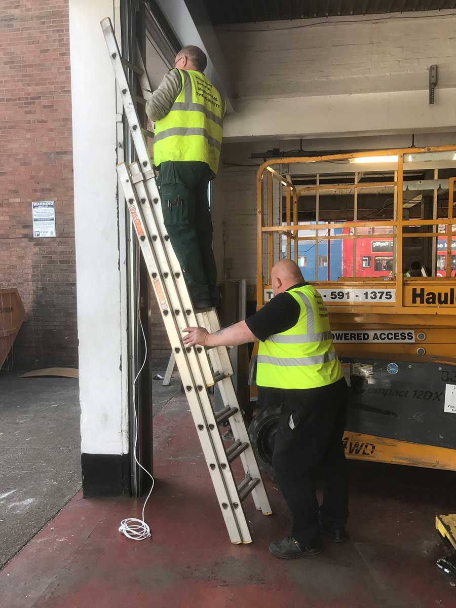 Westwood Security on a call-out to a warehouse repair in Manchester.