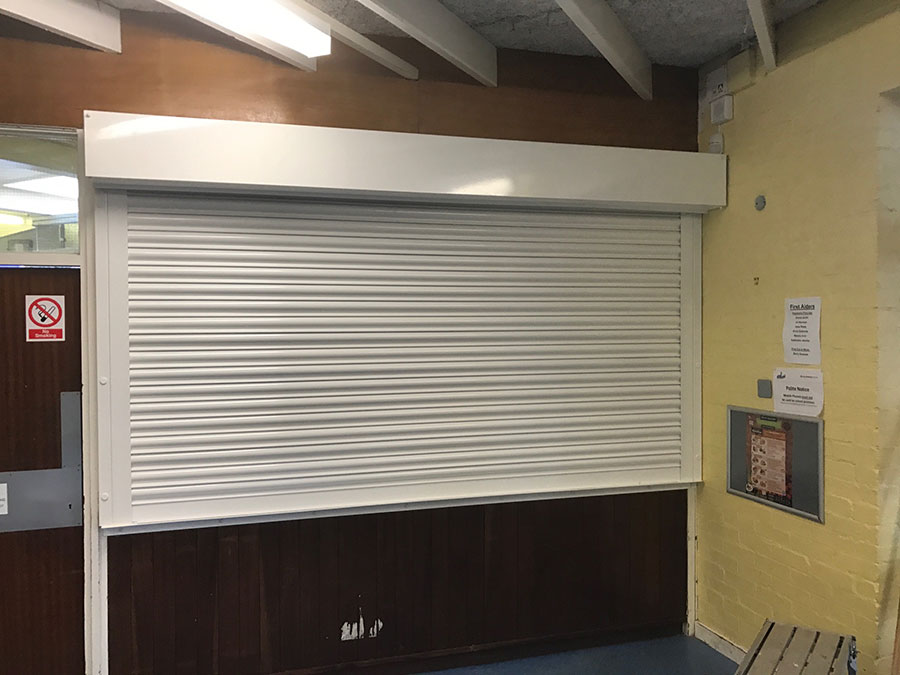 White-Electric-Operated-Scholl-Roller-Shutter