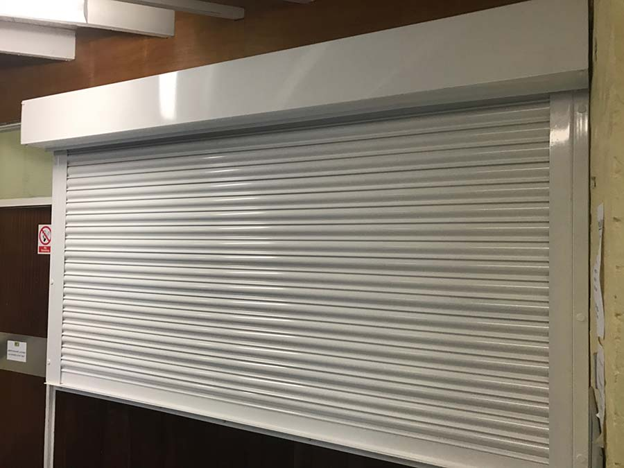 White-Electric-Operated-School-Roller-Shutter-2