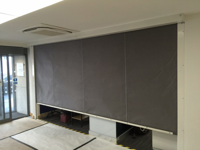 Reception Fire Curtains - Westwood Security Shutters