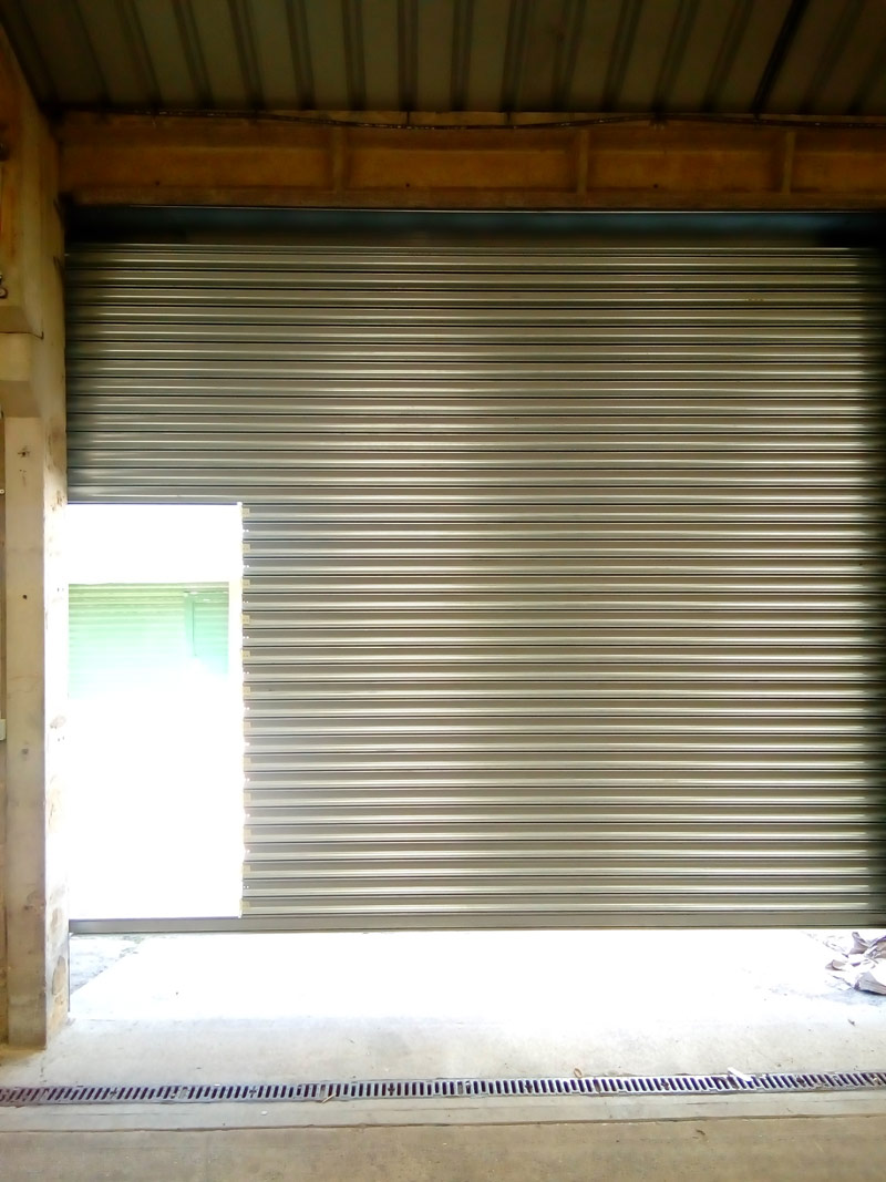 Roller-Shutter-With-Personnel-Door-Interior-Open, Manchester