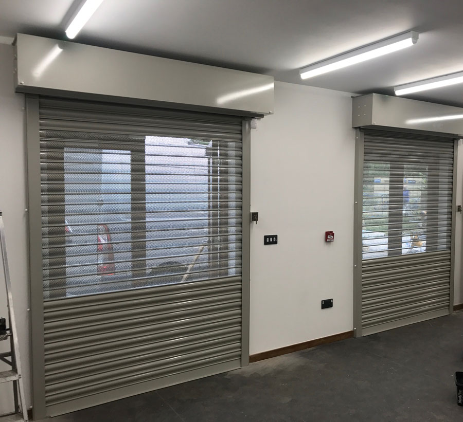 Perforated Lath Rolller Shutters