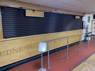 Bar Roller Shutter, British Legion