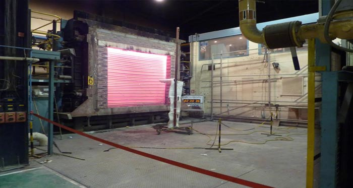Exova Fire Shutter Safety Test
