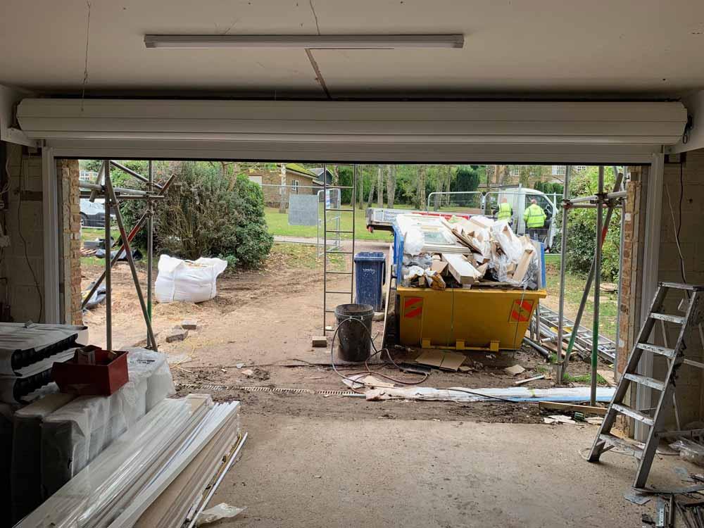 Insulated Lath Garage Roller Shutter Open